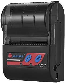 EasyBuying Goojprt MTP-II Thermodrucker, tragbar, 58 mm, Druckgeschwindigkeit 80 mm/s, für iOS/Android/Windows System/Us CN