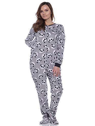 Rene Rofe Pillow Talk Womens Cozy Patterened Fleece Footed Pajama