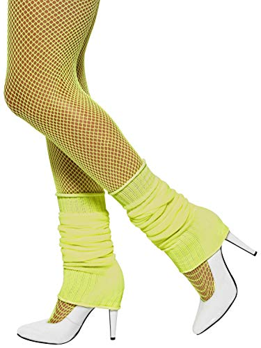 Smiffys Unisex Adult Leg warmers,Yellow,One