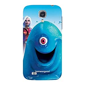 HomeSoGood My One Eyed Friend Blue 3D Mobile Case For Samsung S4 ( Back Cover)