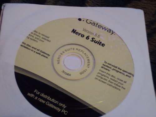 Gateway OEM Nero 6 suite version 6.6 ()