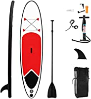 10FT Inflatable Stand Up Paddle Board Kayak and SUP Board -LINKLIFE Thick Surfboard LightweightNon-Slip EVA D