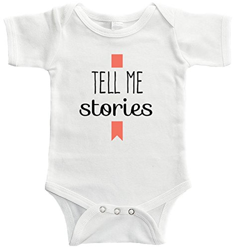 Starlight Baby Tell Me Stories Bodysuit (For Babies Of Librarians, Authors, And Bookworms) (3-6 months, (Librarian Outfits)