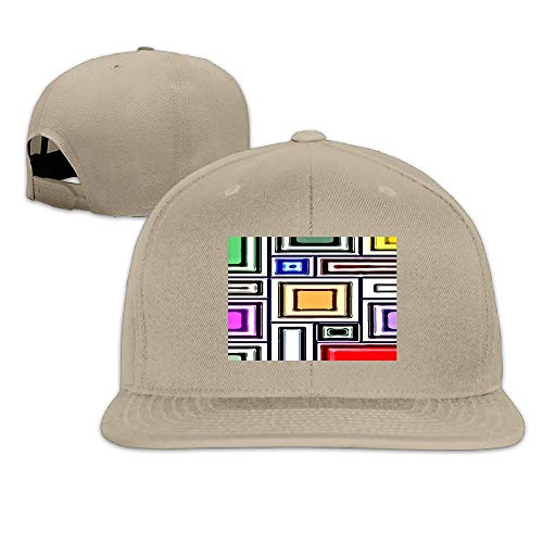 Fashion Cool Geometry Mosaic Unisex Flat Baseball Cap for Outdoor Indoor Natural