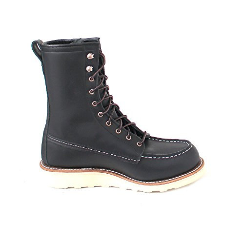Leather Moc 3424 Eu 39 Womens Wing Red Inch Black Boots 8 O1pwZ