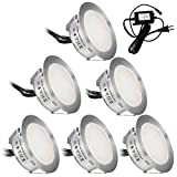 low deck designs Recessed LED Deck Lights Kits 6 Pack,SMY(Upgrade Version) In Ground Outdoor LED Deck Lighting Waterproof IP67,Low Voltage LED Lights for Garden,Yard Steps,Stair,Patio,Pool Deck,Kitchen Decoration