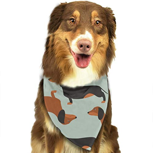 OURFASHION Black and Brown Dachshund Bandana Triangle Bibs Scarfs Accessories for Pet Cats and Puppies