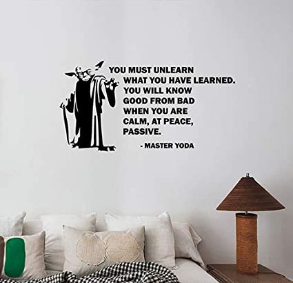 You Must Unlearn What You Have Learned Jedi Master Yoda ...