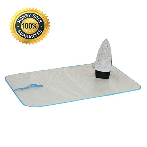 Ironing Blanket Ironing Mat, Portable Travel Ironing Pad,Ironing Board Replacement, Iron Board Alternative for Cover Table Top,Countertop,Ironing Board for Small Space (22 x 36 in