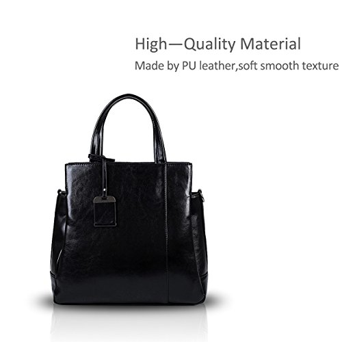 Tote PU New Brown Handbag Black Leather amp;Doris Glossy Bag Ladies Shoulder Nicole Yw18S