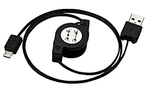 4ft ReadyPlug® Retractable USB Data/Charger Cable for Jabra Evolve 65 Microsoft Lync Mono Headset - Extra Long (4 Feet)