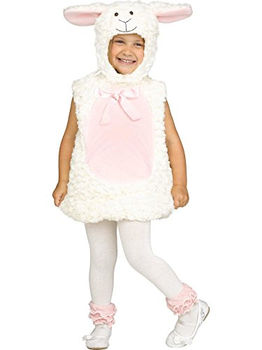Fun World Little Girl's Lrg/Sweet Lamb Tdlr Cstm Childrens Costume, Multi, Large