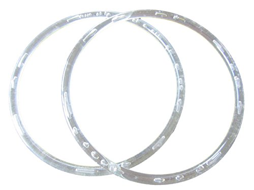 Purse Handles Macrame (Pair of 8 inch Round Plastic Craft Handbag Purse Handles (Clear))