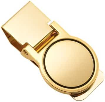 Money Clip - Gold Polished Round Money Clip - Free Engraving