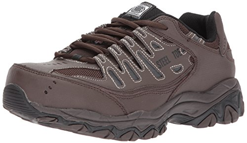 Skechers for Work Men's Cankton Industrial Shoe,brown,12 Medium -