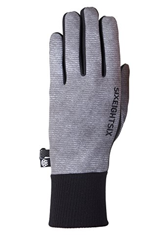 (686 Men's Formfit Softshell Glove | Waterproof Ski and Snowboard Gloves | Charcoal Wash - L)