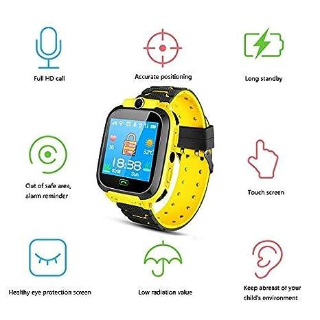 Tenlso Smartwatch Niños, Reloj Inteligente para Niños Impermeable con GPS Localizador, Hacer Llamadas, Chat de Voz, SOS, Cámara, Tarjeta 2G, ...