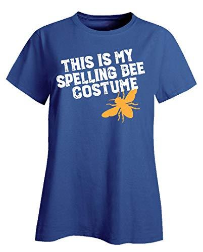 This is My Spelling Bee Costume Funny Beekeeping Art for Halloween Apairist - Ladies T-Shirt Royal -