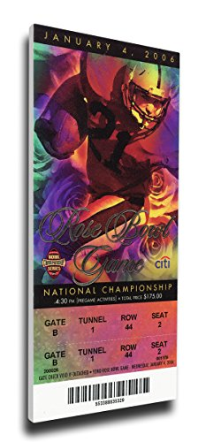 2006 BCS National Championship Game Mega Ticket (Small) - Texas Longhorns