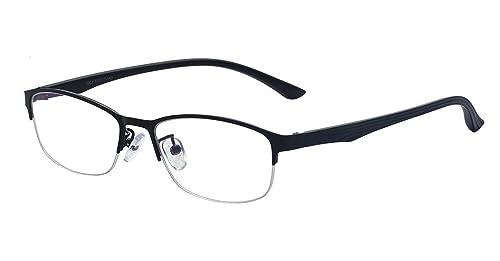 f42e912065 Outray Men Metal Bridge Frame Modern Clear Lens Prescription Glasses(Black)  2179c1
