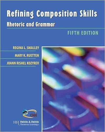 Amazon refining composition skills rhetoric and grammar refining composition skills rhetoric and grammar 5th edition fandeluxe Image collections