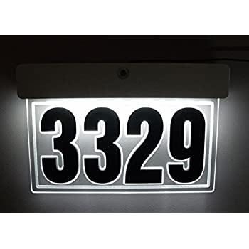 custom edgelit led acrylic address sign lighted house number illuminated address sign led lighted address plaque