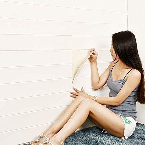 壁紙 シール 木目 クッションシート 壁 保護 3D 立体シール ウォールステッカー 防音 断熱 防カビ 壁紙シート 衝撃緩和 軽量 (ホワイトウッド, 10)