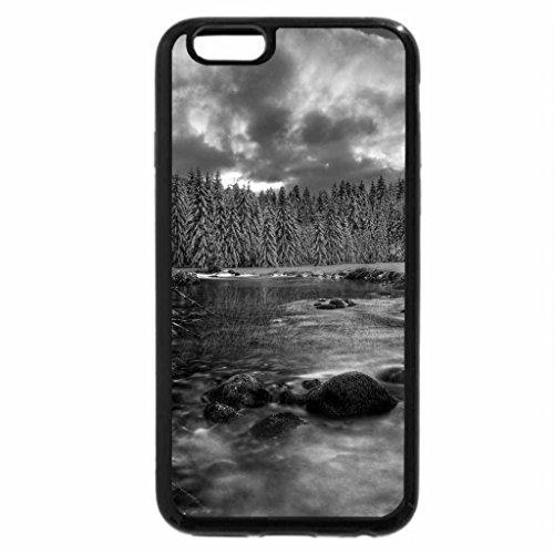 iPhone 6S Plus Case, iPhone 6 Plus Case (Black & White) - Winter River
