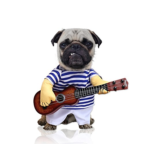 Halloween Costumes For Yorkies (Fter Dog Halloween Costumes Funny Guitar Puppy Costumes Dress Up Size M-XL (XL))