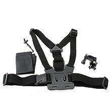 NEEWER Adjustable Chest Belt/Strap Harness Mount Kit with J-Hook for Gopro Hero 4 3+ 3 2 1 Cameras