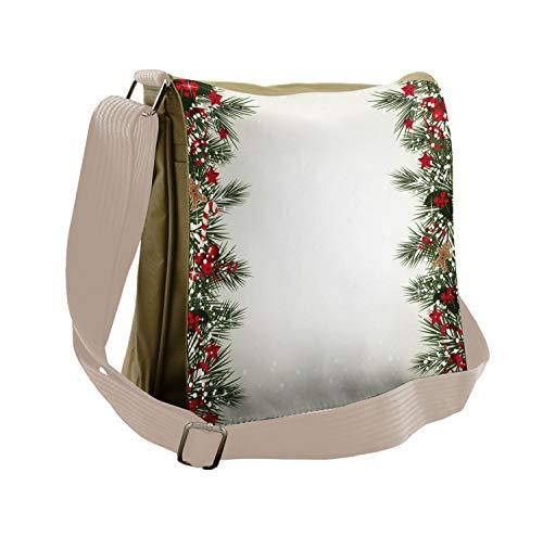 Ambesonne Christmas Messenger Bag, New Year's Eve Magic, Unisex Cross-body