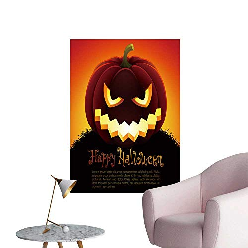 Vinyl Wall Stickers Halloween with Pumpkin on Sky Background.Check My Portfolio for Raster Version. Perfectly Decorated,12