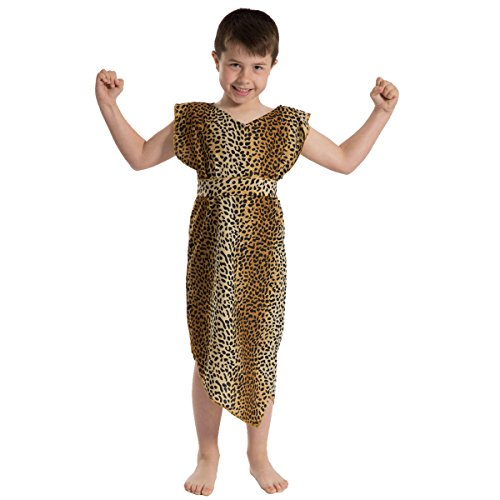 Caveman Cavegirl Costume for Kids. Leopard Pattern. One