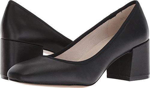Kenneth Cole New York Women's Eryn Low Heel Square Toe Dress Pump, Black Leather, 8.5 M US