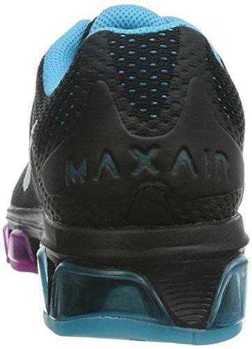 Nike Kvinnor Air Max Medvind 7 Löparsko Svart / Vit / Clrwtr / Fchs Flsh