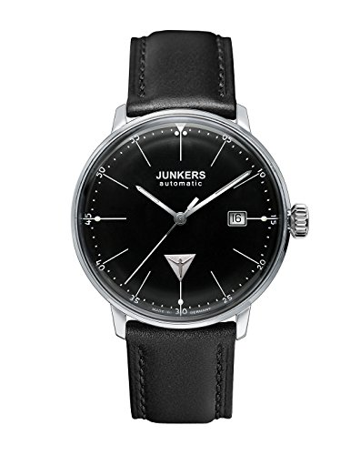 Junkers Bauhaus Swiss ETA Automatic Watch with Domed Hesalite Crystal 6050-2