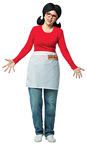 Rasta Imposta Bob's Burgers Linda Apron w/Foam Wig & Glasses Womens Halloween Costume Kit, OS ()