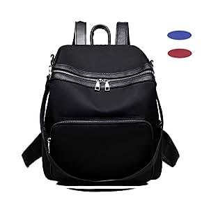 Mochila Mujer, Ligero Nylon Daypack para Casual MultifuncióN Mochila Escolar Viaje Bolsos De Peso,