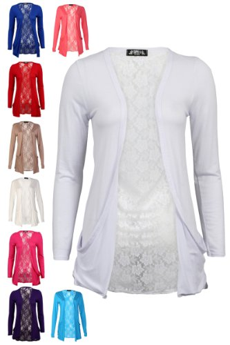 78S Womens Floral Lace Back Ladies Long Boyfriend Summer Cardigan ...