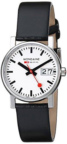Mondaine Damen-Armbanduhr SBB Evo Big Date 30mm Analog Quarz A669.30305.11SBB