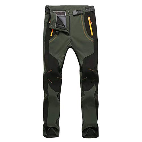 Sunhusing Couple Outdoor Waterproof Windproof Zip Hiking Skiing Pants Winter Warm Cashmere Thick Trousers