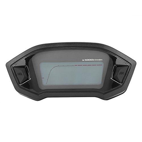 Qiilu Universal Motorcycle Digital Colorful LCD Speedometer Odometer Tachometer W//Speed Sensor