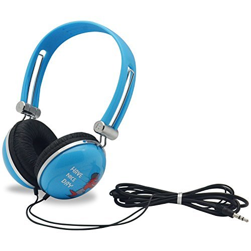 WONNIE Headset for Portable DVD Player, PC, Mobile Phone, Cartoon Headphone (Blue)