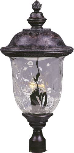 Maxim 3421WGOB, Carriage House DC Outdoor Post, 3-Light 180 Watts, Oriental Bronze
