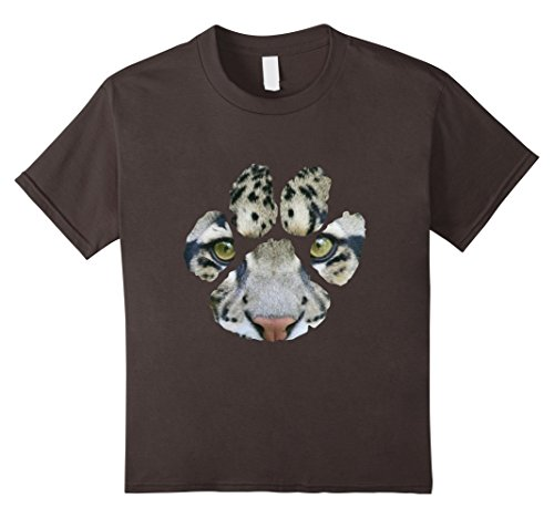 Kids Awesome Clouded Leopard Paw Print T-Shirt - Mens/Wom...