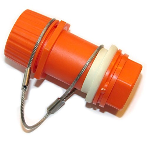 Igloo Replacement Threaded Drain Plug (Orange, Stainless Tether) by Igloo Products Corp.