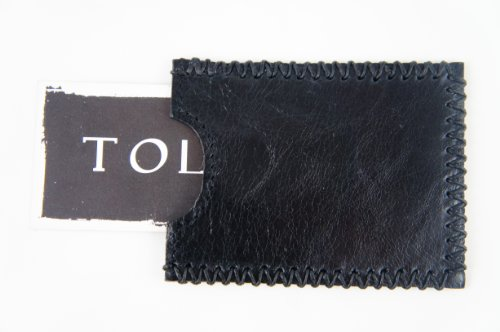 Tola Black Hide and Leather Downtowner Hair Card Stitching Holder with q4Uq6rYn