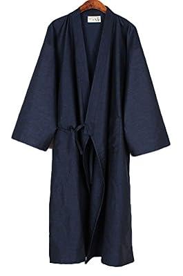 Soojun Men/Women Japanese Kimono Robe Cotton Pajamas