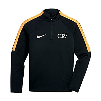 3955372a6e0 Nike Kids Squad CR7 Football Drill Top - Black  Amazon.co.uk  Sports ...