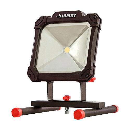 Portable Indoor and Outdoor Worklight, Cool to the Touch, Bulb Never Needs Replacing (Husky Light)